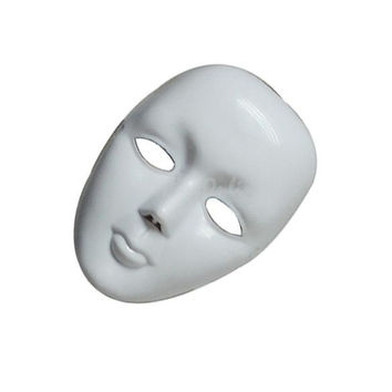15 X 21cm Halloween Party DIY Scary Masks White Full Face Cosplay Masquerade Mime Mask Ball Party Costume Masks