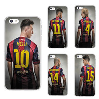 Silicone Spain Barcelona Football Jersey Messi For IPhone 5 5S SE 6 6S Plus 7 7plus Case soft slim Tpu Silica Phone Shell Cover