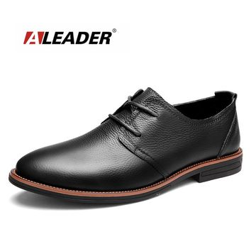 Leather Mens Dress Shoes 2016 Fashion Lace Up Casual Oxfords Men Genuine Leather Shoes Designer Formal Shoes Sapatos sapatilha