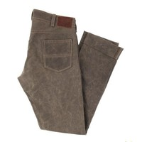 GN.04 SLIM FIT WAXED CANVAS PANTS - HAVANA