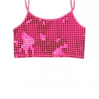 Sequin Dot Cropped Cami | Shine On Animal | Active Outfits | Shop Justice