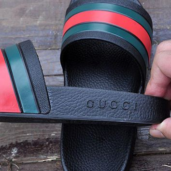 Gucci Casual Fashion Women Men Sandal Slipper Shoes