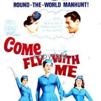 Come Fly With Me Insert Movie Poster 14X36