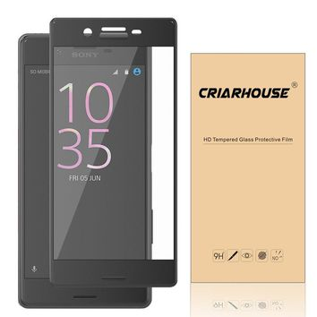 Full Cover Screen Protector Tempered Glass For SONY Xperia XZ XZs XA1 Ultra X Compact Dual Film 9H 0.3 mm 2.5D