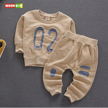 2017 new spring baby boys andvgirls clothing sets casual embroidery toddler long-sleeve t shirt + pants suits infant clothes