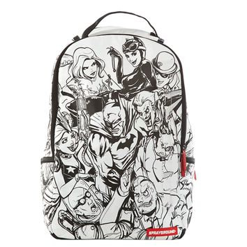 Sprayground - DC Comics Batman Villains DIY Backpack - White