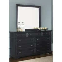 Liberty Furniture Carrington Dresser & Mirror in Black Finish