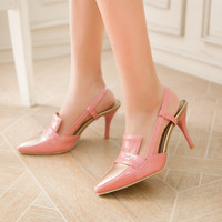 Pointed Toe Mix Colors High Heel Slingbacks Sandals Dress Shoes 6784