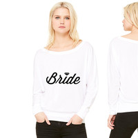 Bride Diamond women's long sleeve tee