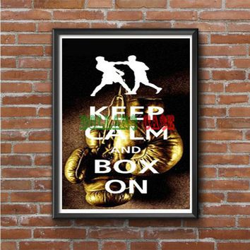Keep Calm Wwe Boxing Gloves Photo Poster