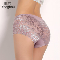 Women underwear briefs sexy women's Panties calcinha full transparent lace seamless string plus size women underwear Panties