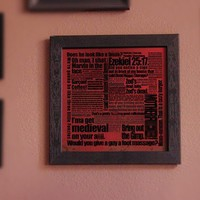 Pulp Fiction Movie Quote Art Print Framed by SkahfeeStudios