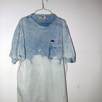 90s vintage grunge dip dyed ombre bleached t shirt sz by MOSSMILK