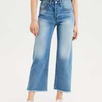 Wide Leg Crop Jean, Faded Indigo