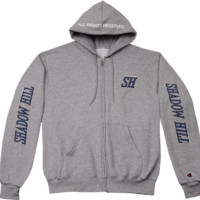 """GREY CHAMPION X SHADOW HILL """"ALL RIGHTS RESERVED"""" ZIP UP"""