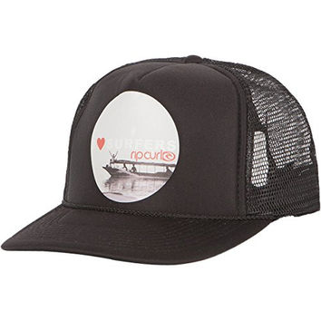 Rip Curl Junior's Lovers and Friends Trucker Hat, Black, One Size