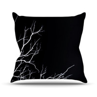 "Skye Zambrana ""Winter Black"" Throw Pillow"