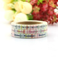 3pcs TheTwilight Saga Date Time Plan Washi Tape Adhesive Tape DIY Scrapbooking Sticker Label Masking Tape