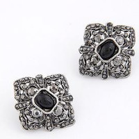 Stylish Vintage Earring Gemstone Accessory Earrings [6058275265]