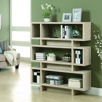 """Natural Reclaimed-Look 55""""H Modern Bookcase"""