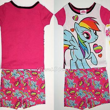 Licensed cool NEW MY LITTLE PONY Pajamas 2PC Short Sleeve PJS Rainbow Dash Baby 18 Months NWT