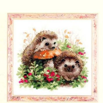 Needlework,DIY Cross Stitch,Sets For Embroidery kits,11CT&14CT,Hedgehog