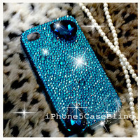 iPhone 4 Case, iPhone 4s Case, iPhone 5 Case, bling iphone 4 case, iphone 5 bling case, teal iphone 4 case, Luxury crystal iphone 4 case