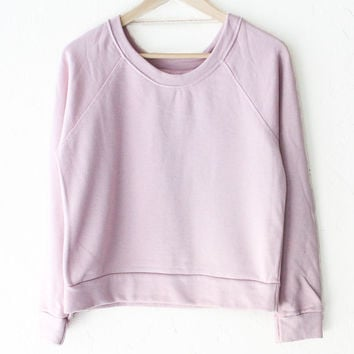French Terry Raglan Sweater