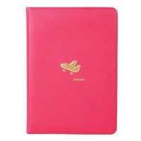 "JAVOedge Dark Pink Airplane Passport Travel Document and Passport Cover (5.4"" L x 0.2"" W x 3.7"" H) + Bonus Storage Bag"
