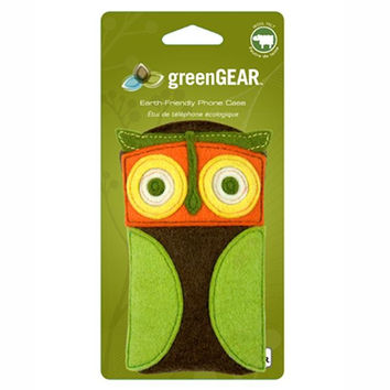 Large Owl Wool Felt Cellphone Case by Fuse