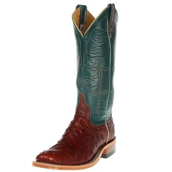 Women's Anderson Bean Brandy Lux Full Quill Turquoise Calfieno Cowboy Boot
