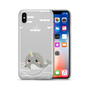 Narwhal - Clear Case Cover Phone Case
