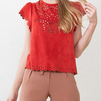 Nancy Suede Top