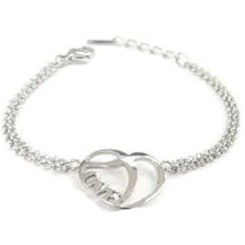 LOVE Bracelet Shiny Stainless Steel Heart for Small Wrists
