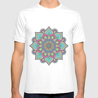 Colorful Abstract Floral Mandala T-shirt by Smyrna