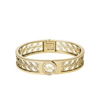 Fulton Logo Gold-Tone Hinge Bangle | Michael Kors