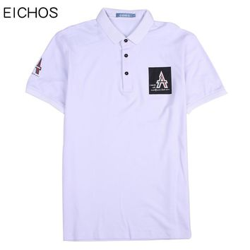 EICHOS Summer Cotton poloshirt brand men Business Office polo shirt mens Turn Down Collar polos shirts 2018 New Solid Clothing