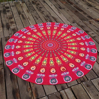Boho Ethnic Summer Beach Towel Printed Bohemian Cover Ups Scarves Wrap Pareo gift