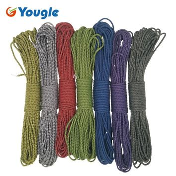 YOUGLE Paracord 550lb Parachute Cord Lanyard Rope Woven Bracelet Type III 100FT Camping survival equipment 172-178
