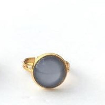 Gold Double Moon Ring