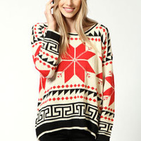 Mary Batwing Snowflake Jumper