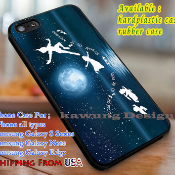 Peter pan's quote, Peter pan, case/cover for iPhone 4/4s/5/5c/6/6+/6s/6s+ Samsung Galaxy S4/S5/S6/Edge/Edge+ NOTE 3/4/5 #cartoon #disney #peterpan dl1