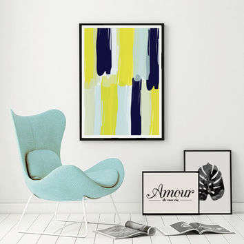 Paint Strokes Print, Wall Art, Abstract Poster, Pastel Print, Minimalist Poster, Abstract Art Print, Abstract Wall Art, Modern Home Decor.