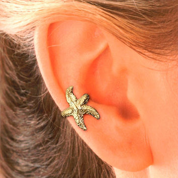 Starfish Ear Cuff in Gold Vermeil