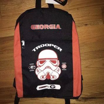 GEORGIA BULLDOGS STAR WARS BACKPACK; RED AND BLACK; NEW