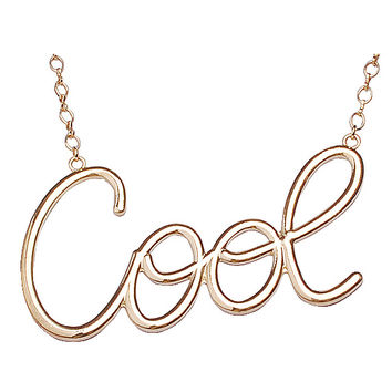 Simple COOL Letter Statement Necklace
