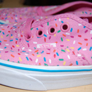Vans shoes, pink cupcake/sprinkle, size 6.5