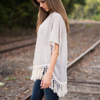 Such A Tassel Top, Taupe