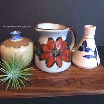Vintage Small Pottery Vessels / Vases, Ceramic Pottery, Williamsburg, Japan