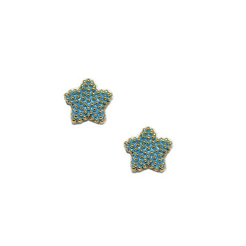 Blue Sweet Stars Earrings